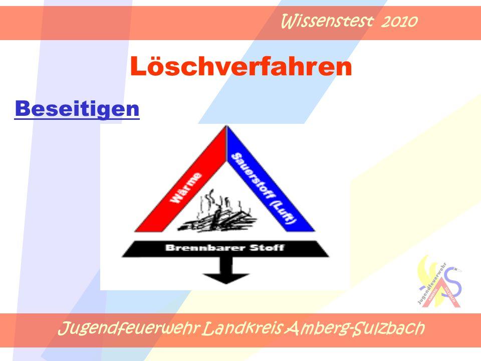 Jugendfeuerwehr Landkreis Amberg-Sulzbach Wissenstest 2010 Beseitigen Löschverfahren