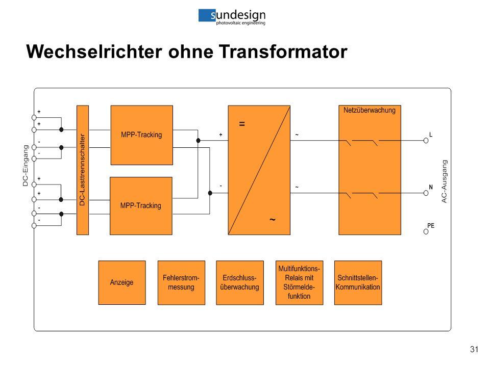 31 Wechselrichter ohne Transformator