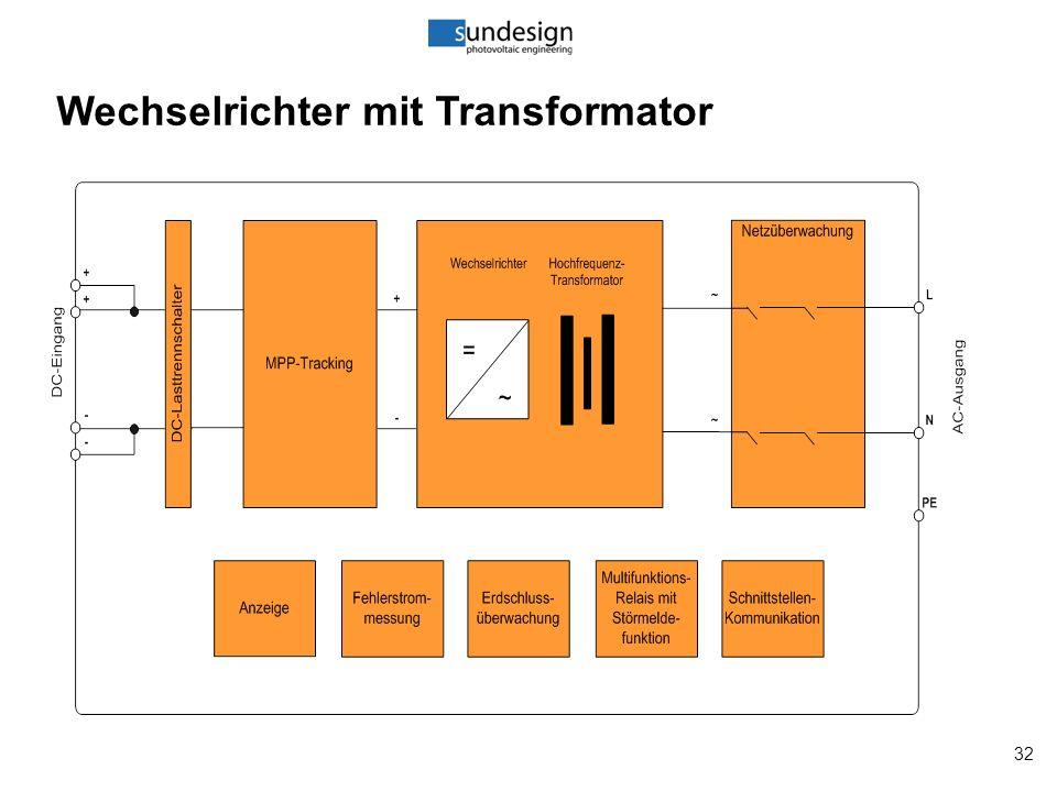 32 Wechselrichter mit Transformator