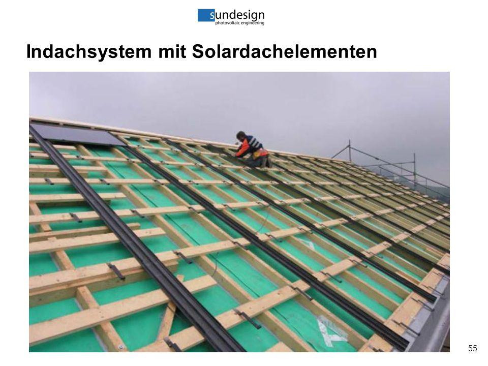 55 Indachsystem mit Solardachelementen