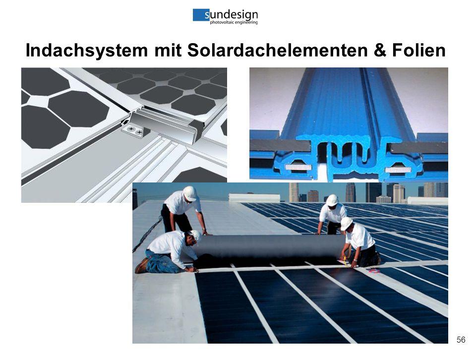 56 Indachsystem mit Solardachelementen & Folien