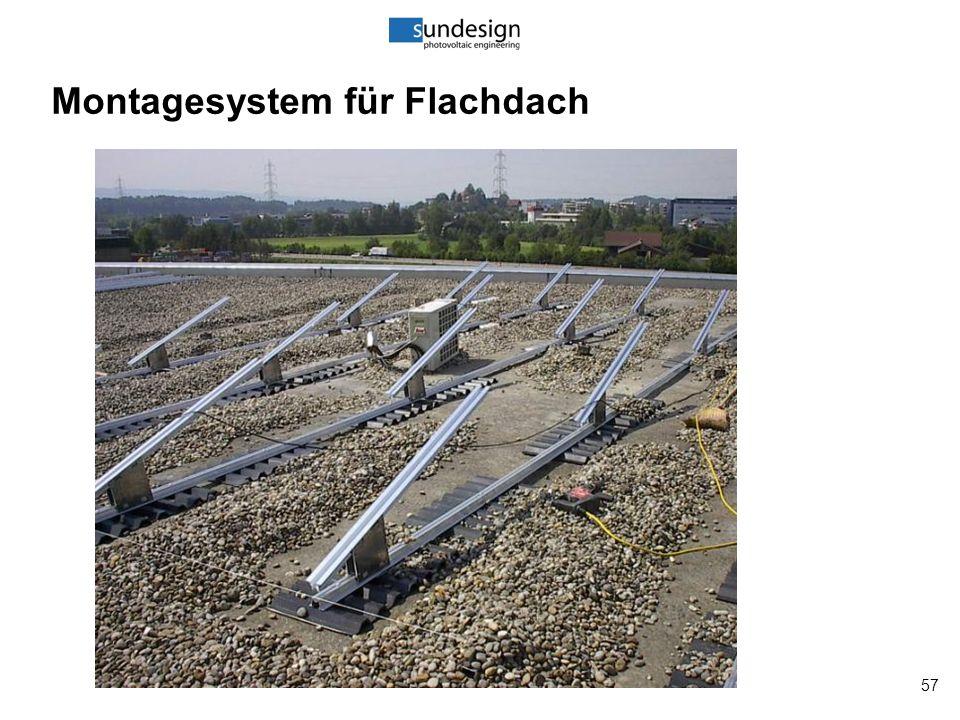 57 Montagesystem für Flachdach
