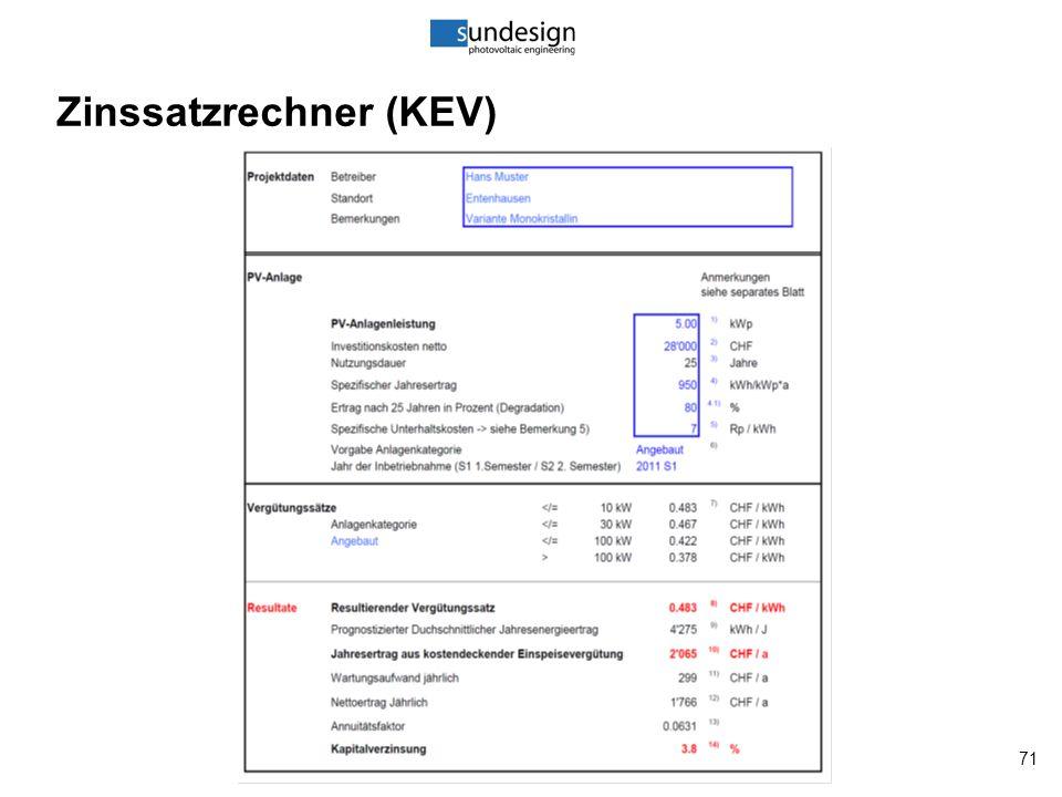 71 Zinssatzrechner (KEV)
