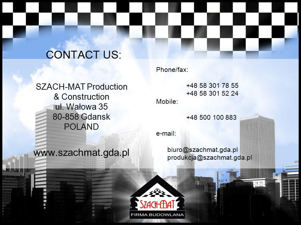 SZACH-MAT Production & Construction ul.