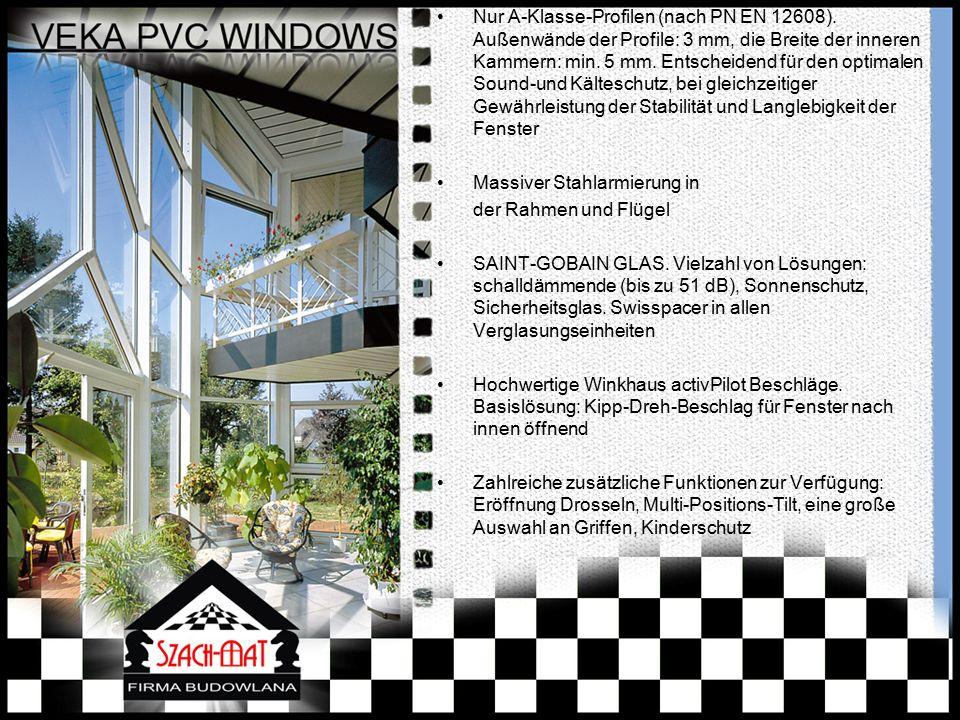 6-Kammer 90 mm  vorne-nach-hinten Profil mit Isolationsfüllung im Rahmens Uw für das gesamte Fensterkonstruktion von 0,70 W/m2K Fenster nach innen öffnend Balkon / Terrasse Türöffnung nach außen oder innen, niedrige Schwelle Vielzahl von Farben - Filme oder lackierte Profile