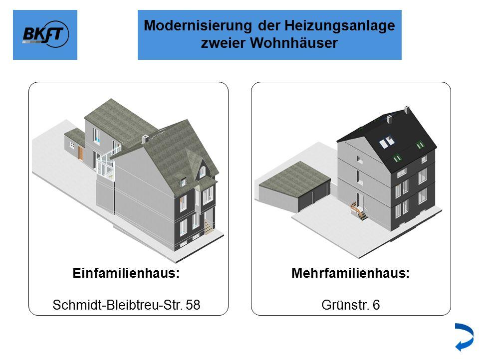 Modernisierung der Heizungsanlage zweier Wohnhäuser Einfamilienhaus: Schmidt-Bleibtreu-Str.