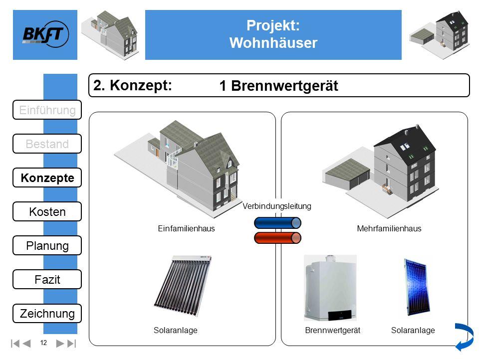 12 Projekt: Wohnhäuser Ge 1 Brennwertgerät 2.
