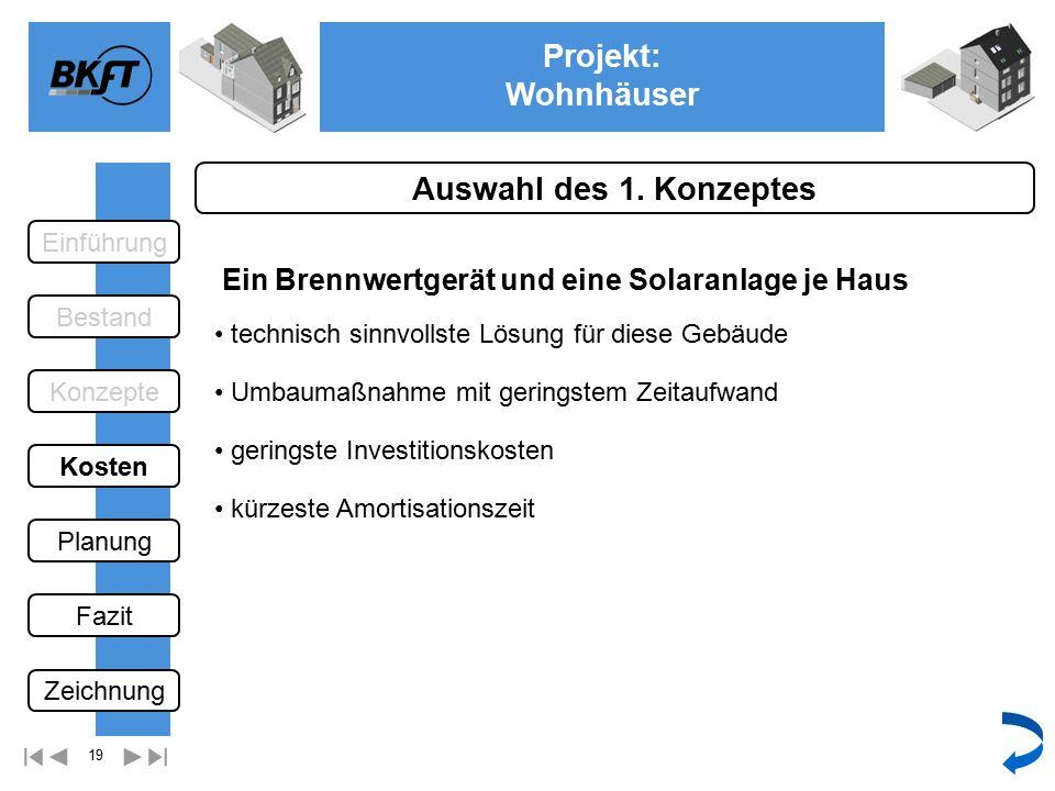19 Projekt: Wohnhäuser Ge Auswahl des 1.