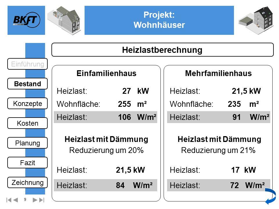 10 Projekt: Wohnhäuser Ge 2 Brennwertgeräte 1.