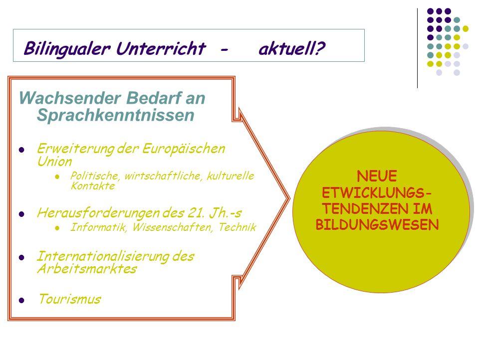 Bilingualer Unterricht -aktuell.