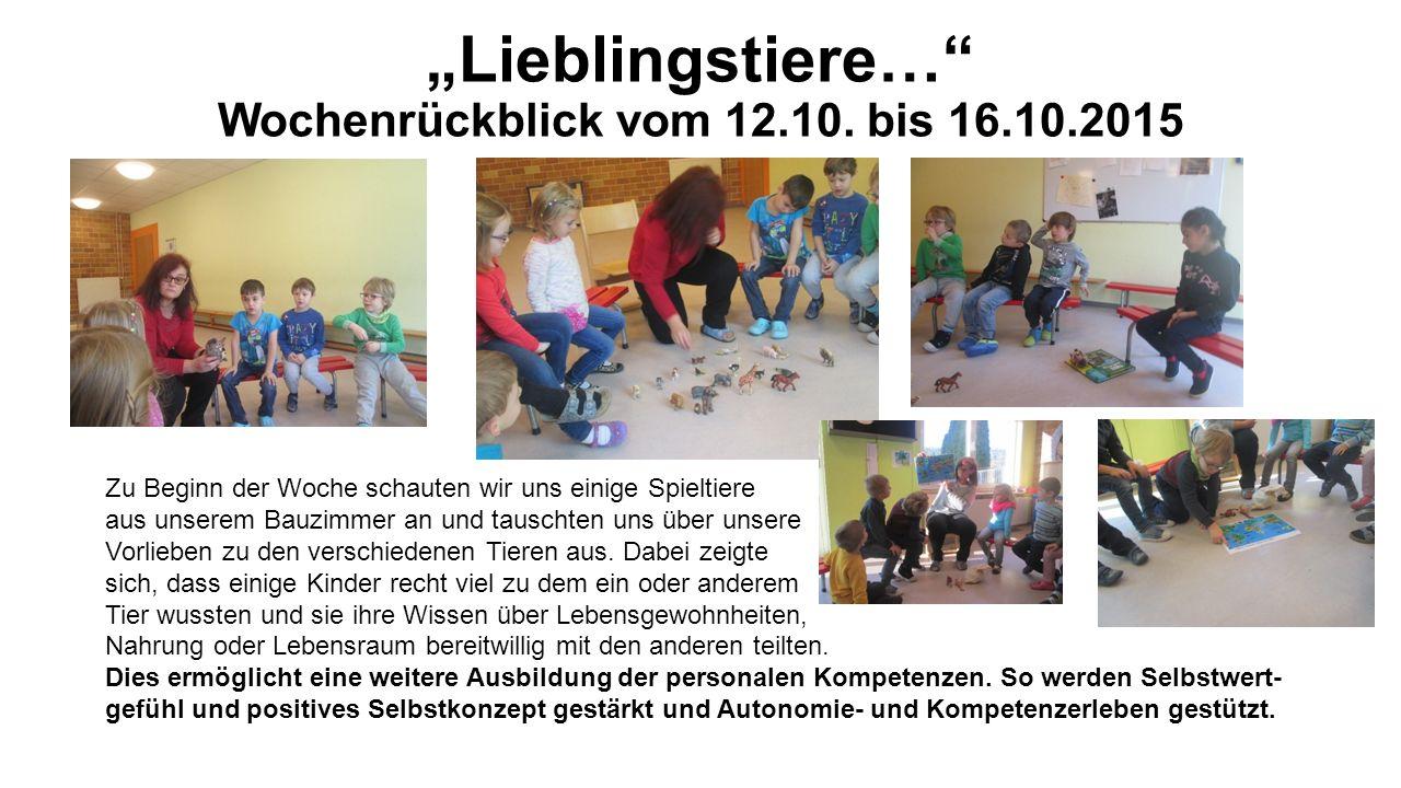 """""""Lieblingstiere… Wochenrückblick vom 12.10."""
