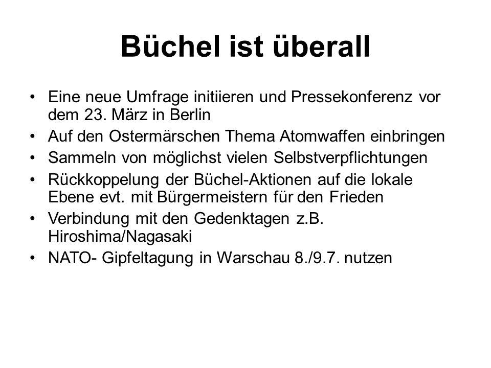 Büchel ist überall Eine neue Umfrage initiieren und Pressekonferenz vor dem 23.