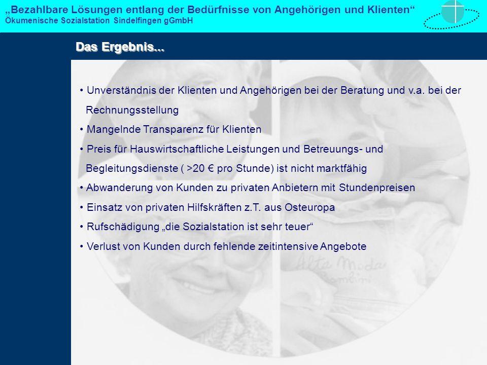 Unverständnis der Klienten und Angehörigen bei der Beratung und v.a.