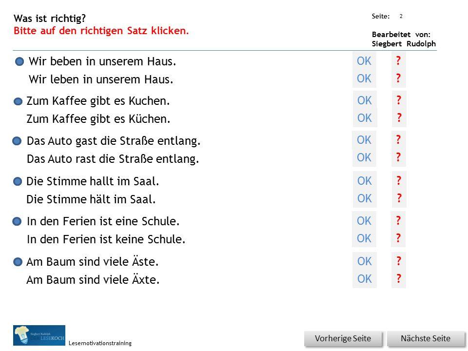 Übungsart: Seite: Bearbeitet von: Siegbert Rudolph Lesemotivationstraining Am Baum sind viele Äste.
