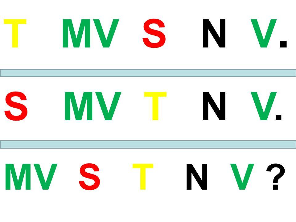 T MV S N V. S MV T N V. MV S T N V