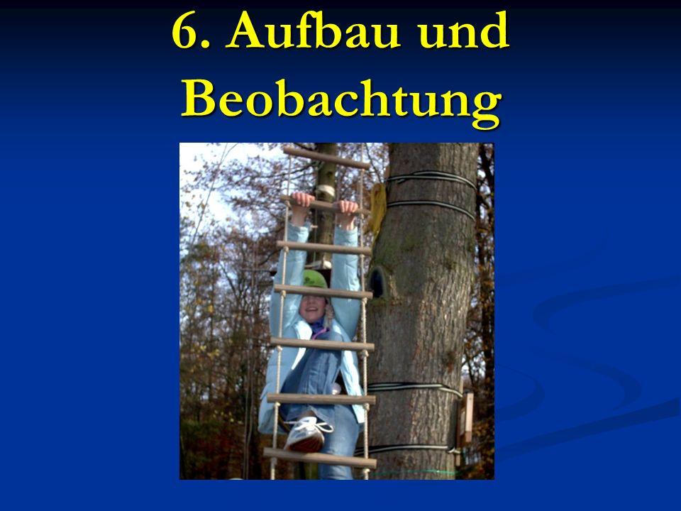 6. Aufbau und Beobachtung