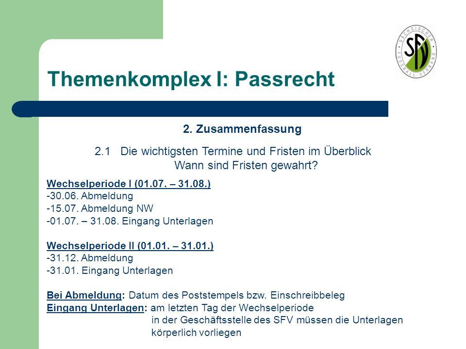 Themenkomplex I: Passrecht Passstelle -André Näth Tel.