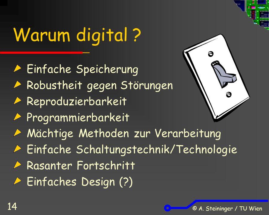 © A. Steininger / TU Wien 14 Warum digital .