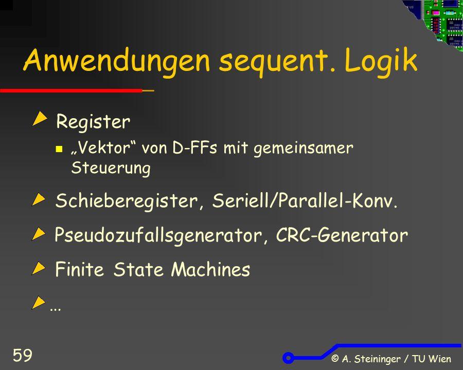 © A. Steininger / TU Wien 59 Anwendungen sequent.