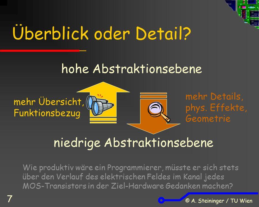 © A. Steininger / TU Wien 7 Überblick oder Detail.