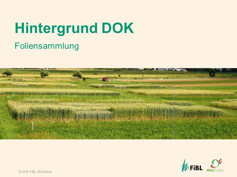 © 2016 FiBL, Bio Suisse Hintergrund DOK Foliensammlung
