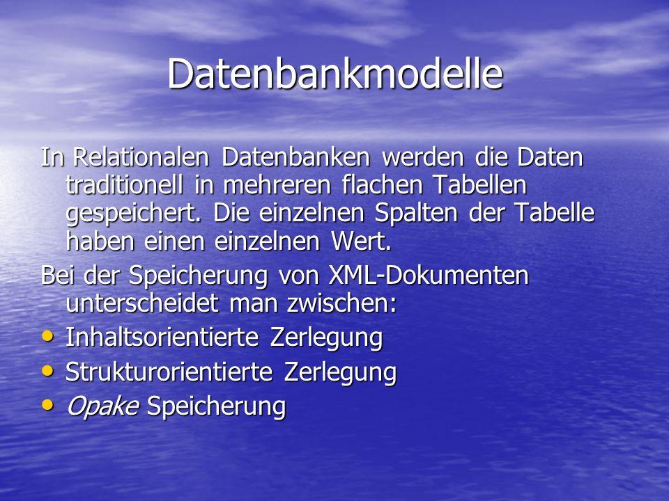 Datenbankmodelle In Relationalen Datenbanken werden die Daten traditionell in mehreren flachen Tabellen gespeichert.