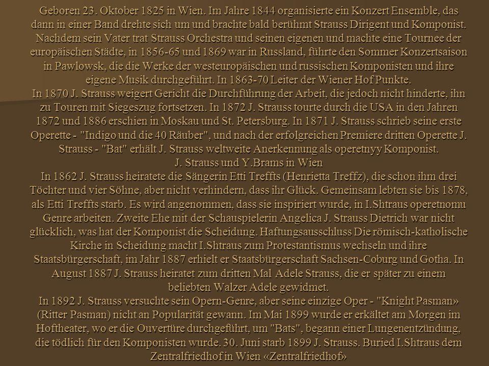 Geboren 23. Oktober 1825 in Wien.