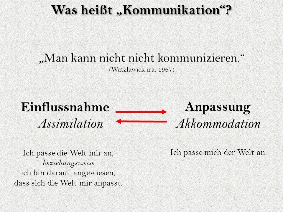 """Man kann nicht nicht kommunizieren. (Watzlawick u.a."