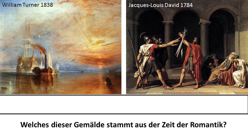 Welches dieser Gemälde stammt aus der Zeit der Romantik.