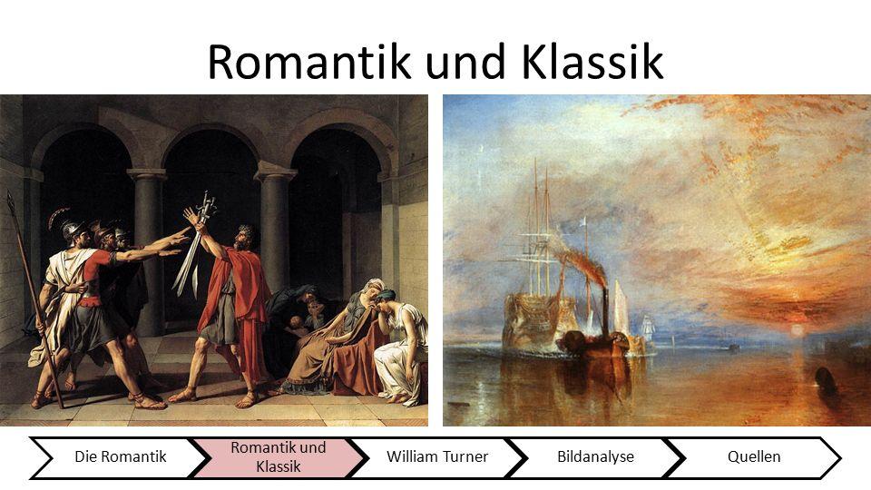 "Romantik und Klassik KlassikRomantik Merkmale:  Harmonie  Ruhe  ""Schöne Seele""  Abgeschlossene Bildwelt  Einfache und klare Formen  Idealisierte"