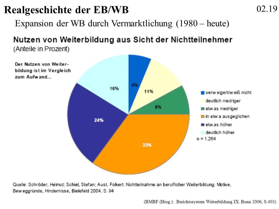 02.19 Realgeschichte der EB/WB (BMBF (Hrsg.): Berichtssystem Weiterbildung IX.