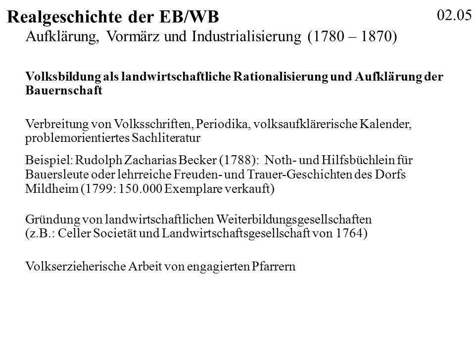 02.16 Realgeschichte der EB/WB Nuissl, E (Hrsg.) (2008): Trends der Weiterbildung, - Abb.