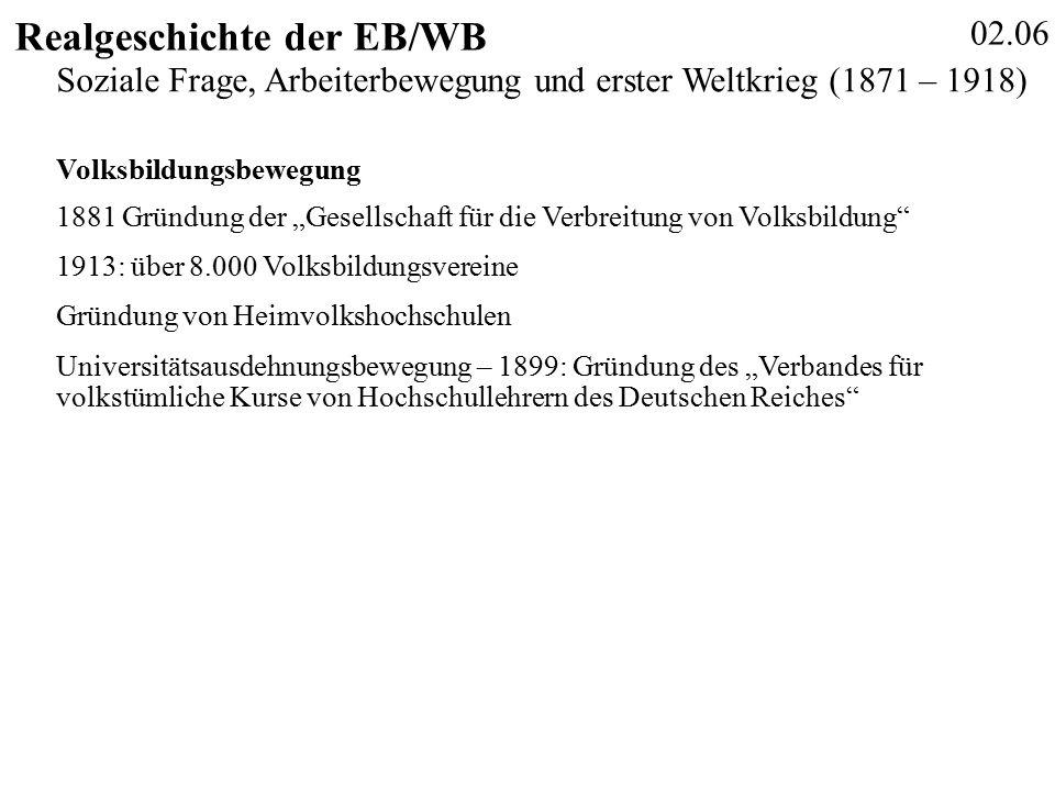 02.27 Realgeschichte der EB/WB Schiersmann, Christiane: Berufliche Weiterbildung.