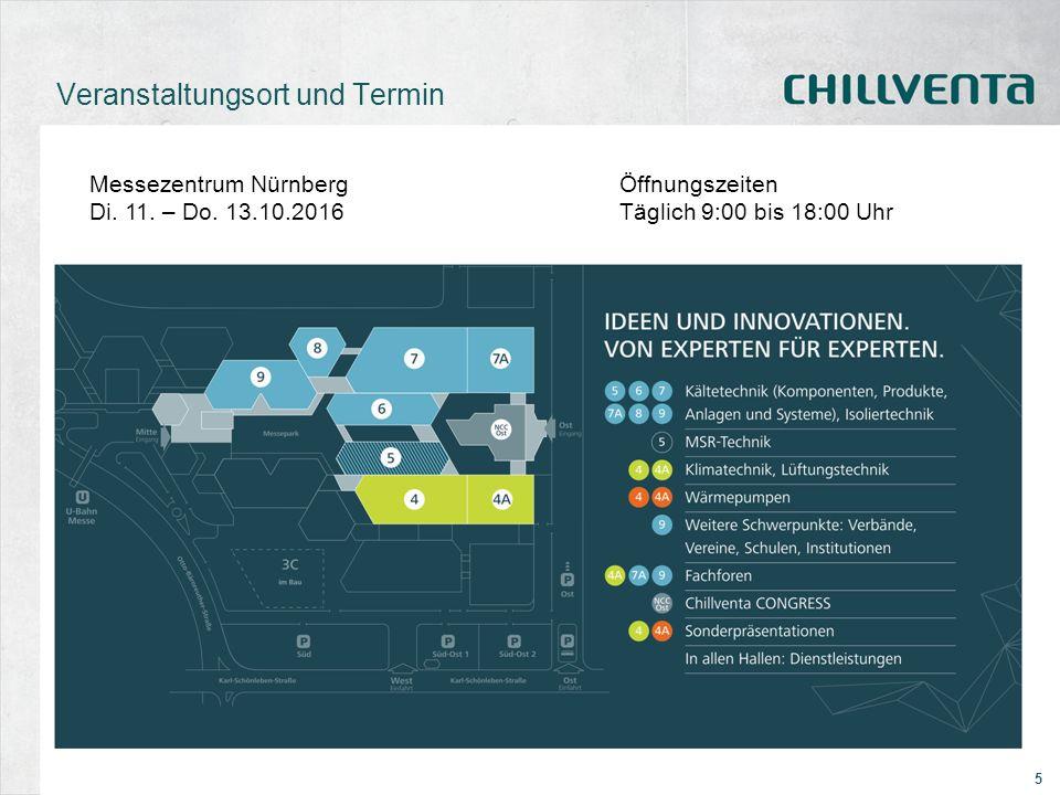 5 Veranstaltungsort und Termin Messezentrum NürnbergÖffnungszeiten Di. 11. – Do. 13.10.2016Täglich 9:00 bis 18:00 Uhr