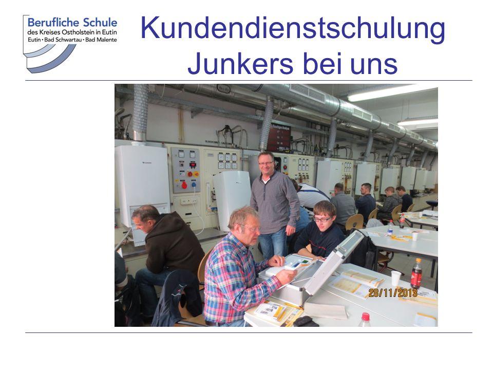 Kundendienstschulung Junkers bei uns
