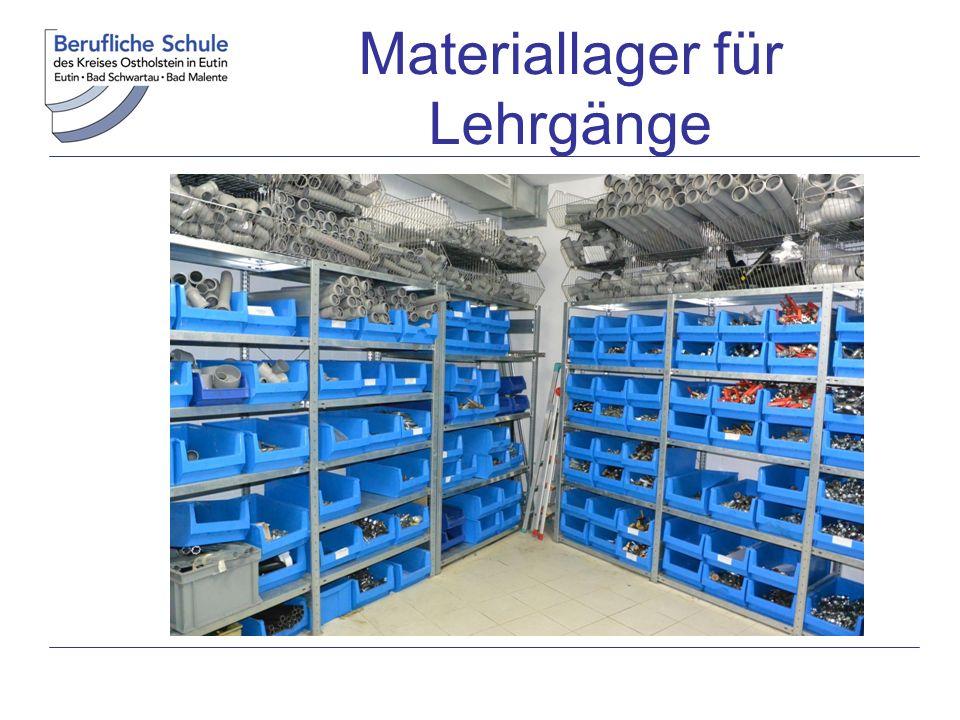 Materiallager für Lehrgänge