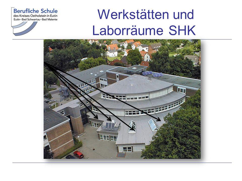 Werkstätten und Laborräume SHK