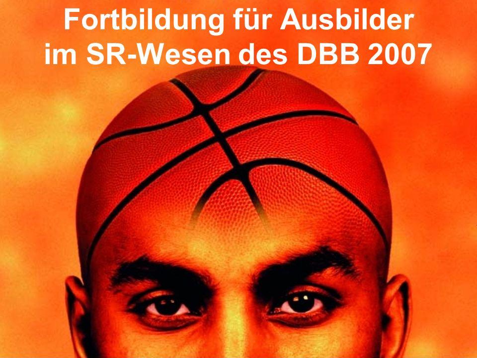 1© Thorsten Stratemann / Stand: 21.03.2007 Fortbildung für Ausbilder im SR-Wesen des DBB 2007