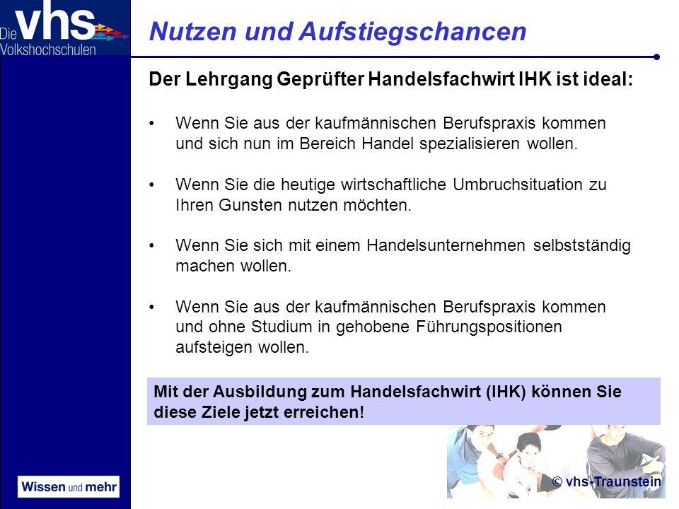 © vhs-Traunstein Förderung BAföG: Für Lehrgangskosten und Prüfungsgebühren werden bis max.