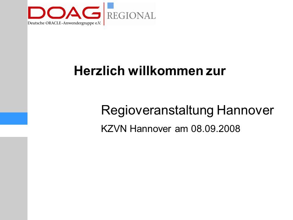Regioveranstaltung Hannover KZVN Hannover am 08.09.2008 Herzlich willkommen zur