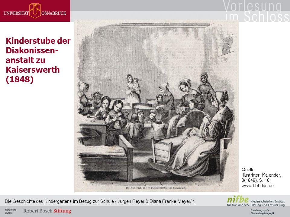 Kinderstube der Diakonissen- anstalt zu Kaiserswerth (1848) Die Geschichte des Kindergartens im Bezug zur Schule / Jürgen Reyer & Diana Franke-Meyer/