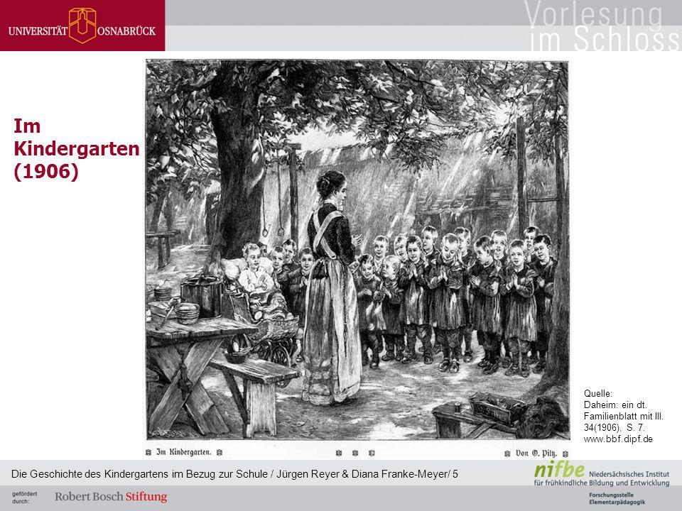 Im Kindergarten (1906) Die Geschichte des Kindergartens im Bezug zur Schule / Jürgen Reyer & Diana Franke-Meyer/ 5 Quelle: Daheim: ein dt. Familienbla