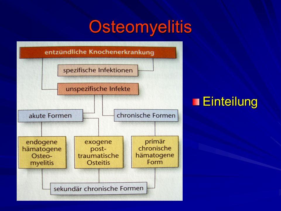 Osteomyelitis Einteilung