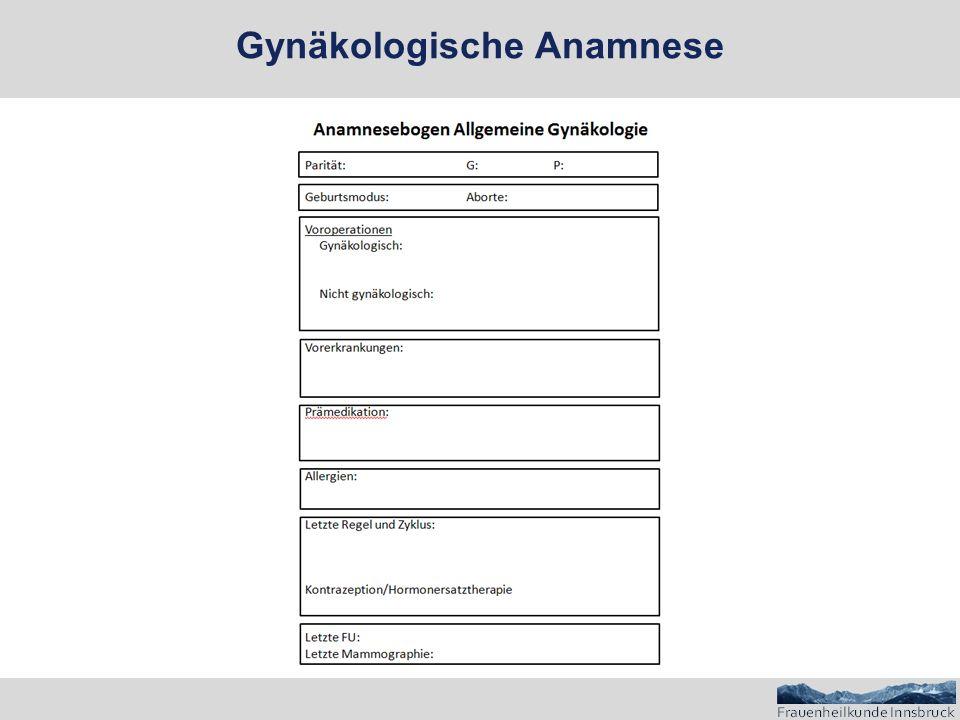 Gynäkologische Untersuchung: Spiegel
