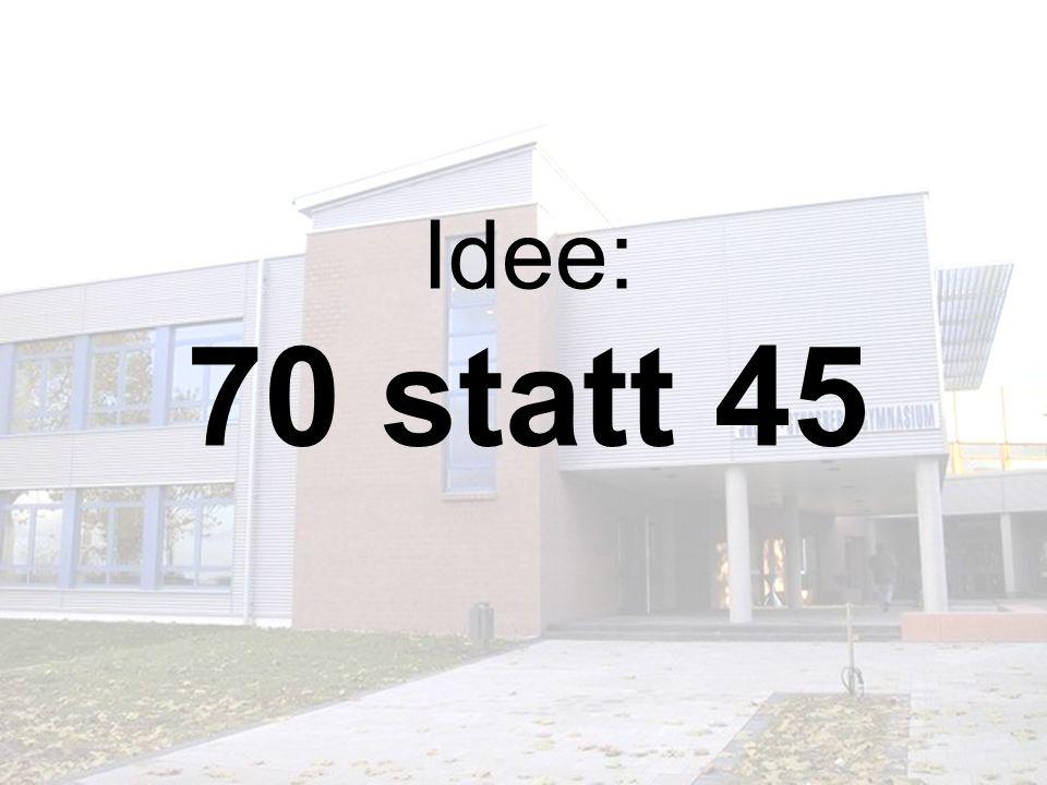 Idee: 70 statt 45