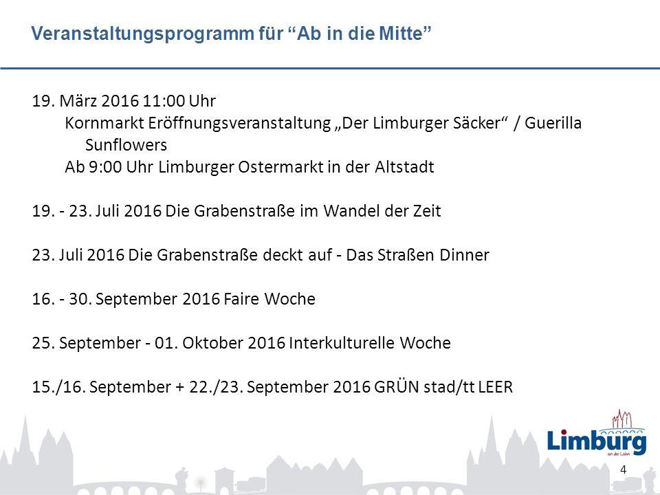 Veranstaltungsprogramm für Ab in die Mitte 19.