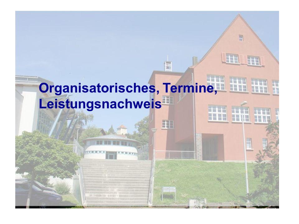 Themen und Termine Woche 10: 6./7.