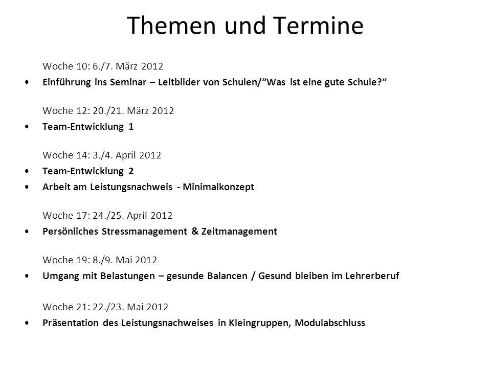Schulen mit Profil 10 Merkmale einer guten Schule (gemäss Schulen mit Profil, AVS Luzern) Brügger Gerold