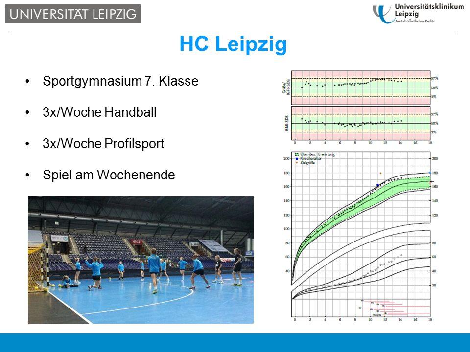 Sportgymnasium 7. Klasse 3x/Woche Handball 3x/Woche Profilsport Spiel am Wochenende HC Leipzig