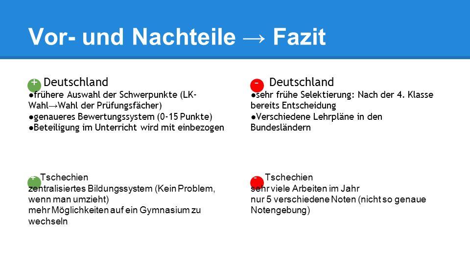 - Deutschland ●sehr frühe Selektierung: Nach der 4.